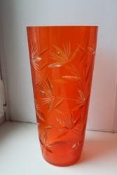 Продам уникальную вазу из цветного хрусталя  н.70-х г.г. (г.Киев)
